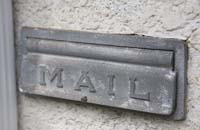 Photo of a mail slot